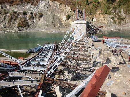 Sunkoshi bridge collapses